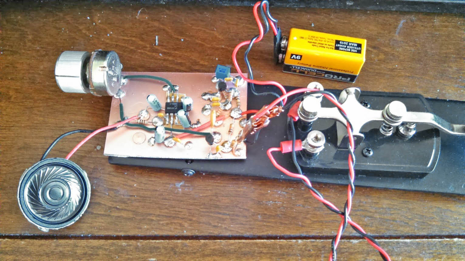 Twin T Morse Code Practice Oscillator K4icy Http Startingelectronicscom Beginners Circuits Opamposcillator Af5whs Cpo Build
