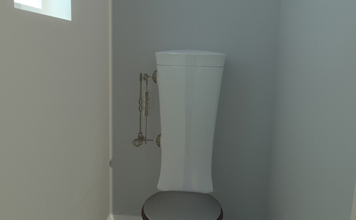 Toilet rendered in scene