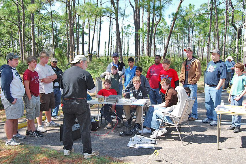 Ham Radio Class for the Scouts