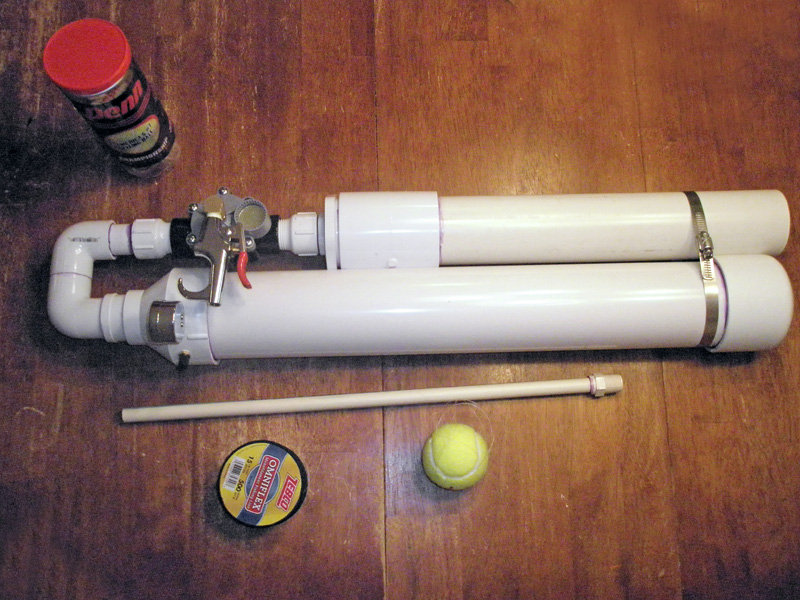 Diy Pneumatic Tennis Ball Launcher - DIY Projects