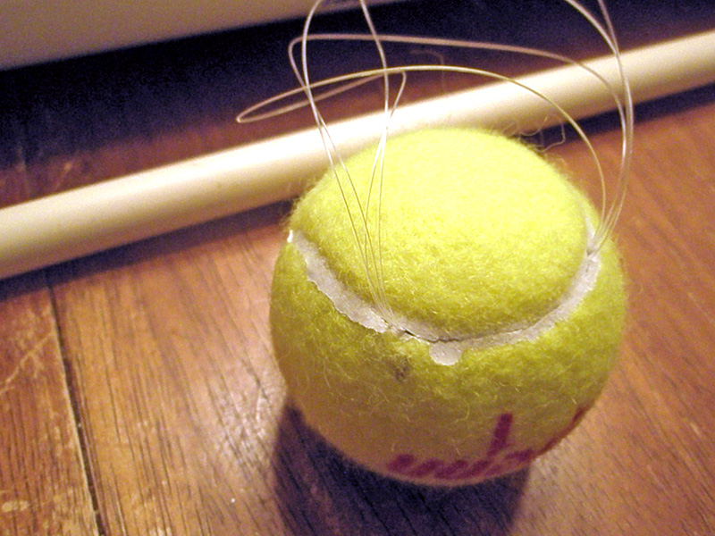 Tennis ball projectile