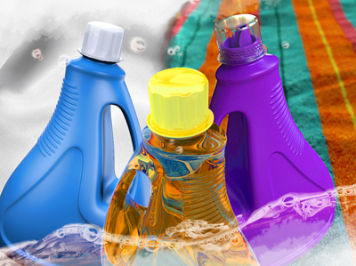 Plastic Detergent Bottle
