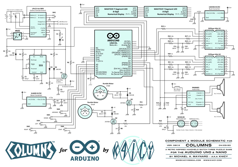 Columns for Arduino Schematic