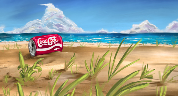 Cola on the Beach