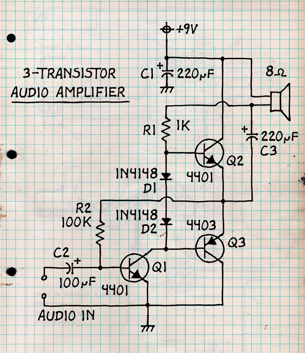 Twin T Morse Code Practice Oscillator K4icy Transistor Amplifier Circuit Design Schematic Diagram 3 Audio Click On Pic For Printable Version You Can Build These Circuits